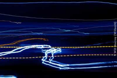 Abstract Light Trails: I-80 Blue (DSC0352)
