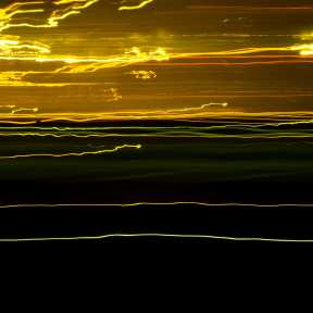 Abstract Light Trails: I-80 Gold (DSC0357)