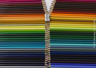 Still Life Colored Pencils Zipper - DSC4249