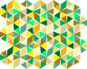 Six-Pointed Triangle Stars in Yellow-Greens