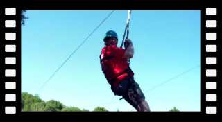 Will Murray (Willscrlt) first time riding a zip line