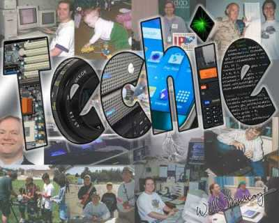 Techie Collage (CISW 350 Photoshop Assignment)