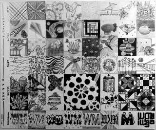 "ART 320, 2013-09-19, Project 1, Pen and Pencil Pattern Diary, ""56 Tiny Drawings"".jpg"