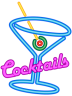 Faux Neon Cocktails Sign